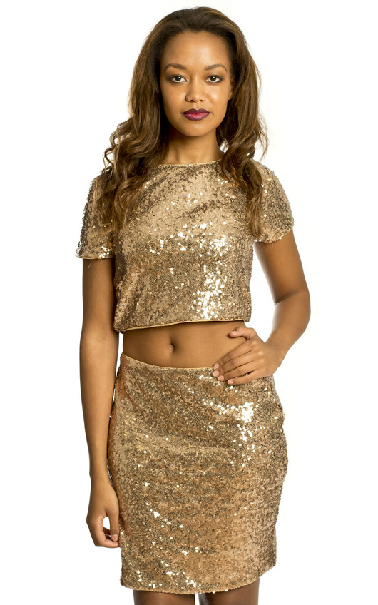 Aliya Sequin Party Top