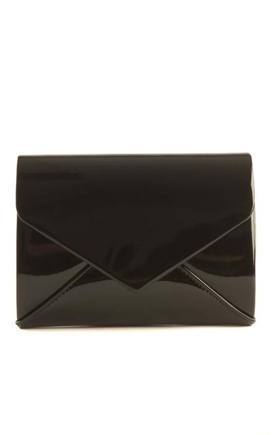Cicely Black Envelope Clutch Bag
