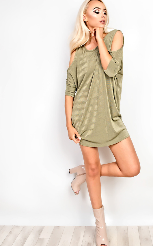 Amberlyn Cold Shoulder Top