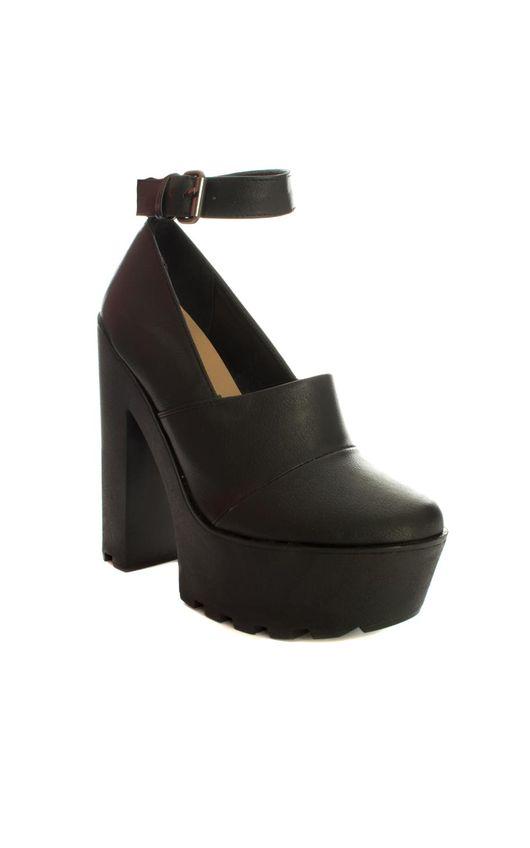 Anaika Extreme Black Platform Block Heels