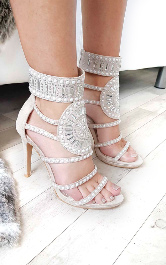 Kimberly Diamante Studded Heels