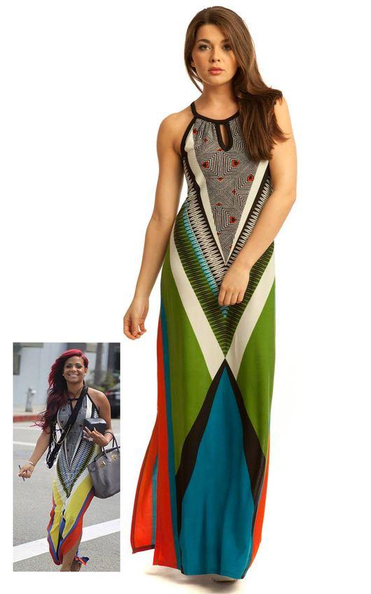 Zia Colour Block Maxi Dress