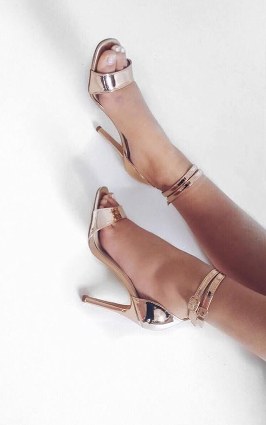 Melanie Patent Barely There Heels