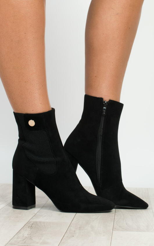 Kalo Faux Suede Heeled Boots