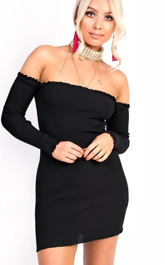 Ruby Ribbed Bardot Dress