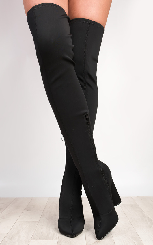 Lexzy Stretch Thigh High Boots
