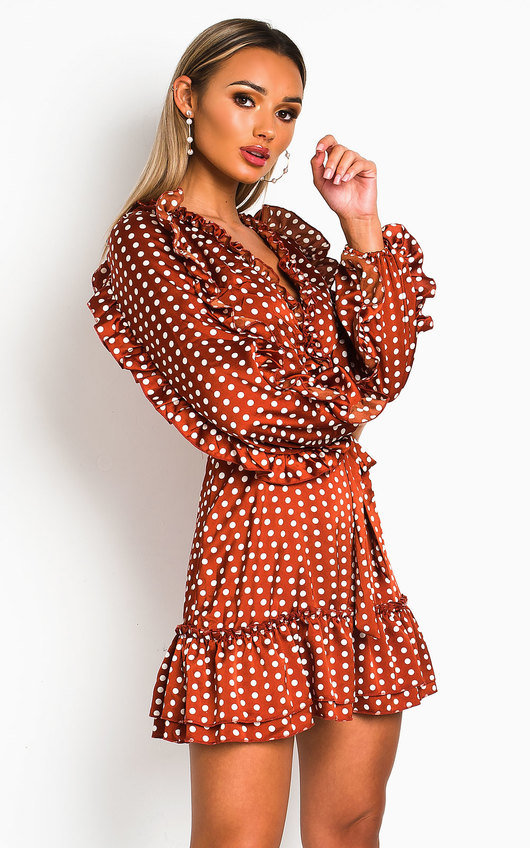 Abbie Polka Dot Frill Dress