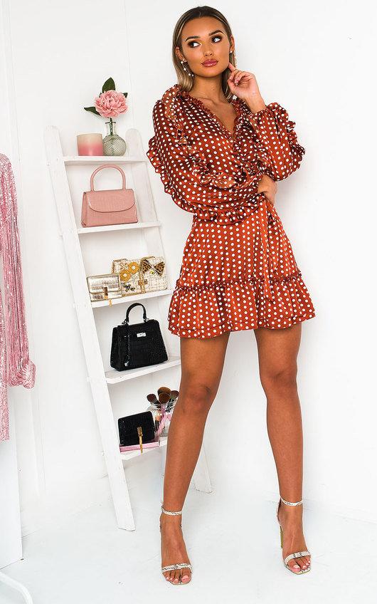 Abbie Polka Dot Frill Dress