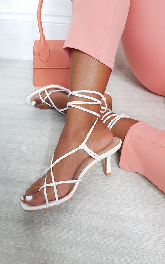 Abi Lace Up Heels
