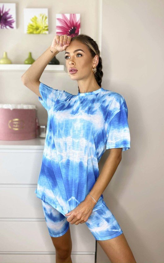 Abi Tie Dye Cycle Shorts & Top Co-ord