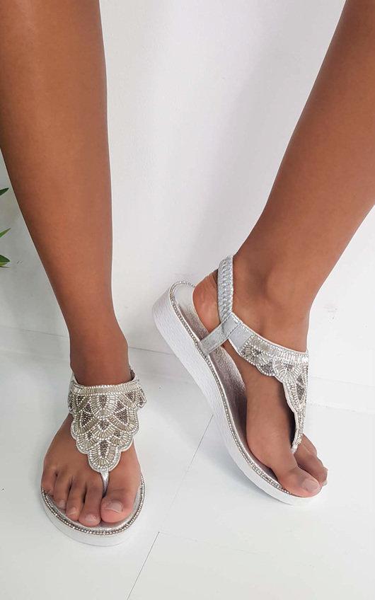 Acer Diamante Embellished Sandals