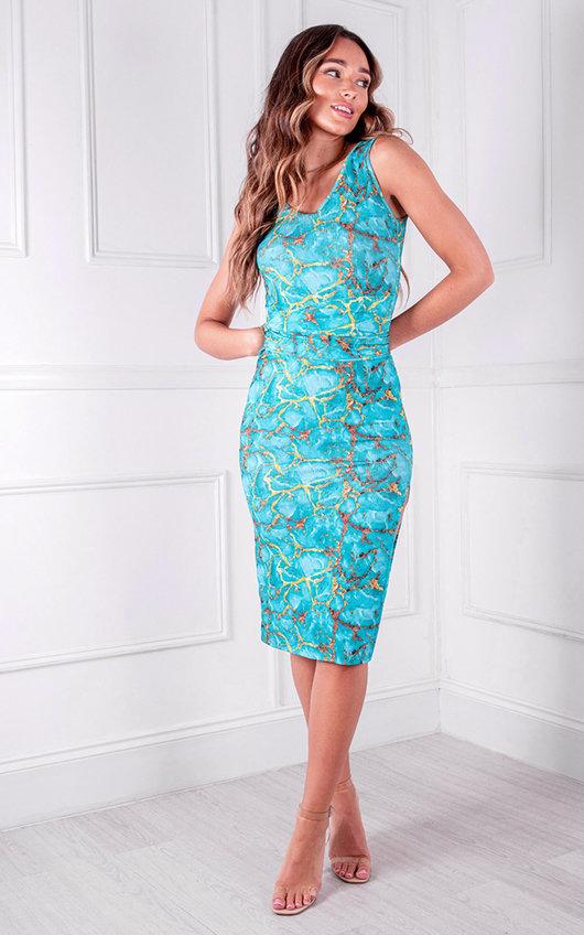 Ada Midi Printed Dress
