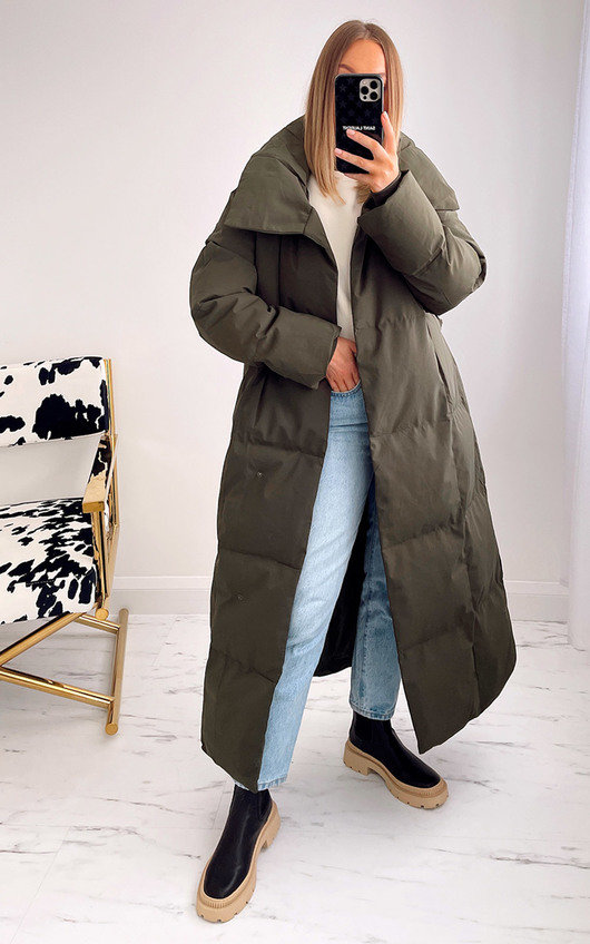 Addison Oversized Belted Puffer Coat