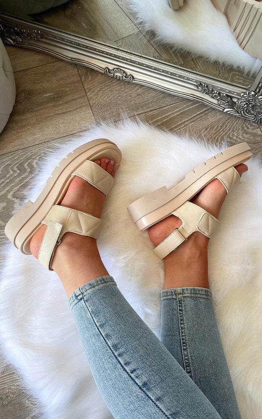 Adelaide Velcro Strap Chunky Sandals