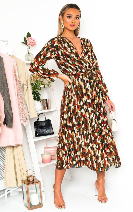 Adelaide Wrap Front Midi Dress