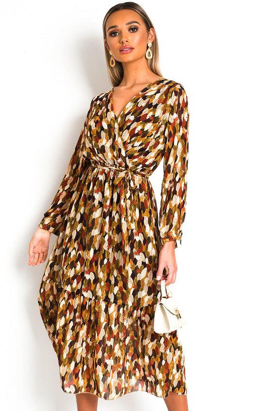 Adelaide Wrap Front Midi Dress