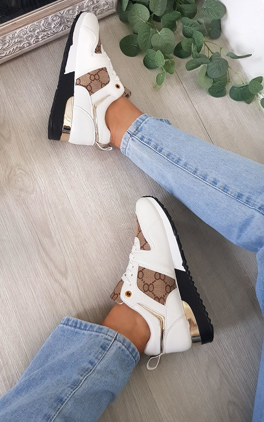 Adelle Printed Trainers