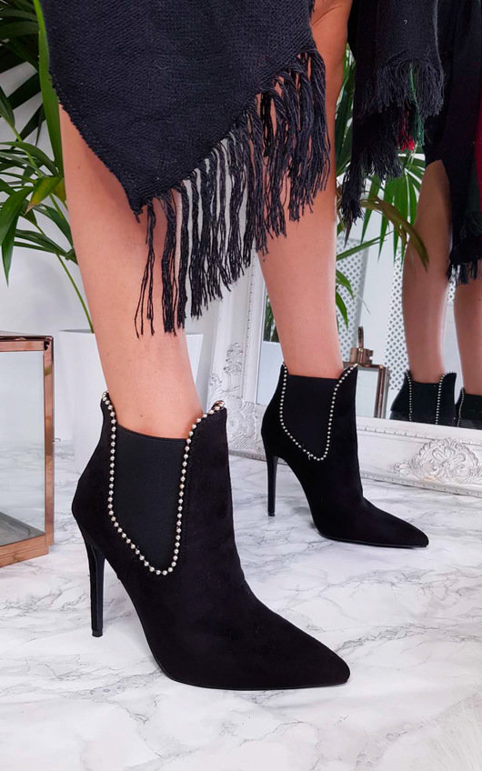 Adrienne Faux Suede Pointed Boots