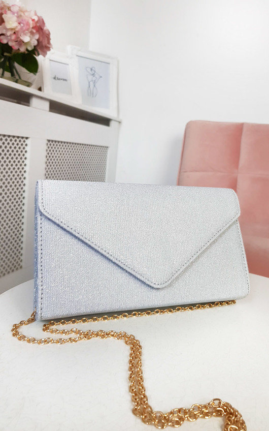 Afia Shimmer Clutch Bag