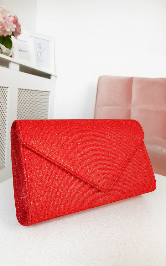 Afia Shimmer Clutch Bag