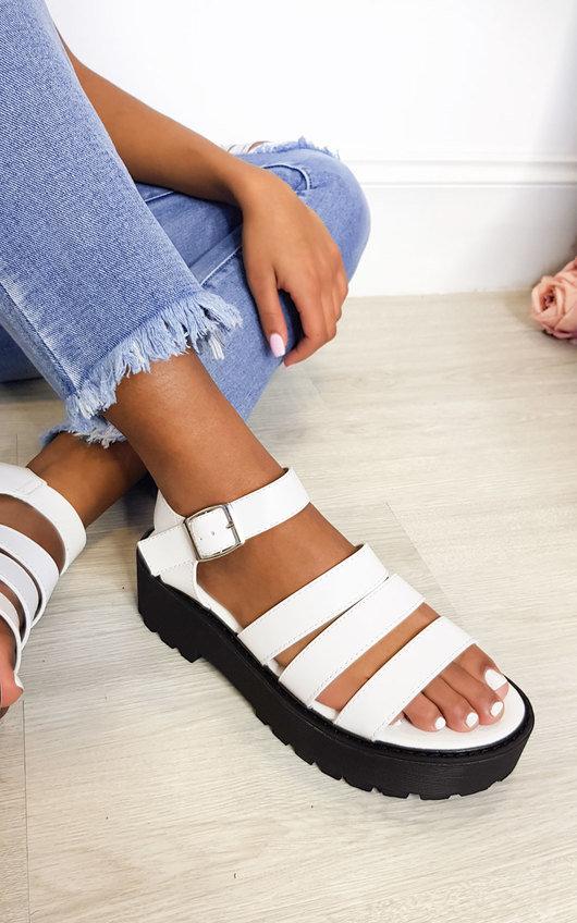 Agnes Buckle Chunky Sandals