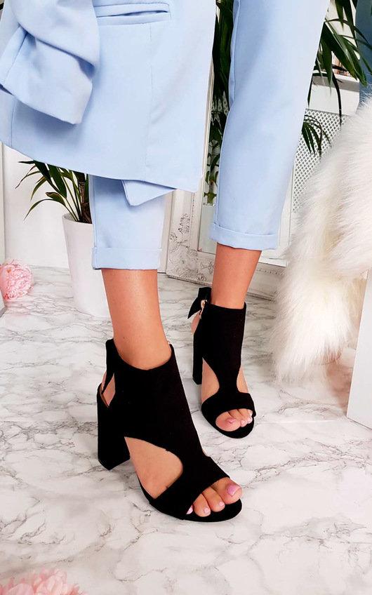 Ailidh Suedette Peep Toe Ankle Boot