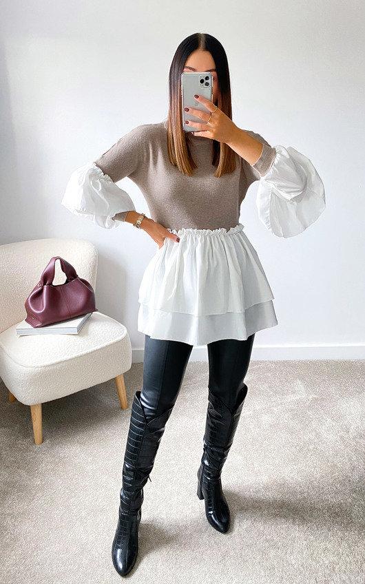 Alana Knitted Shirt Jumper