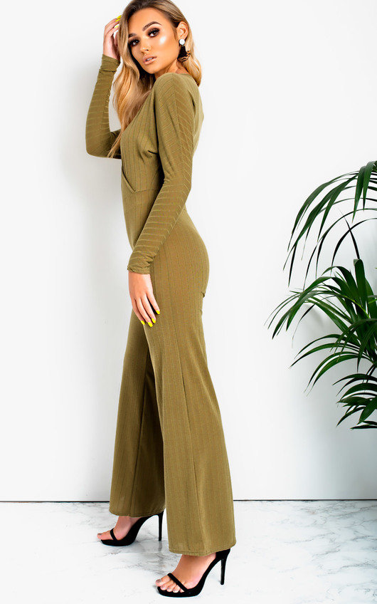 Albany Ribbed Wide Leg Jumpsuit