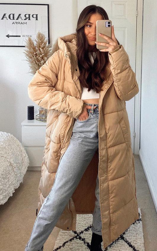 Alex Longline Hooded Puffer Jacket