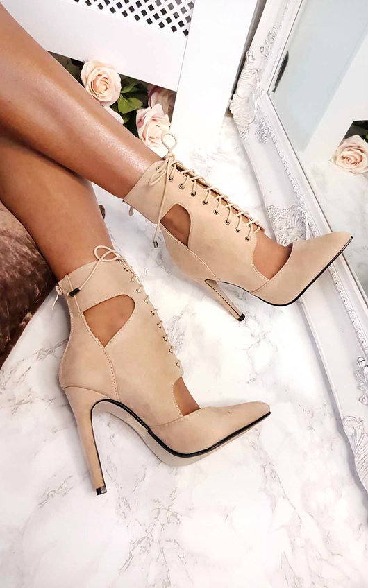 Alexandra Lace up Corset Heels