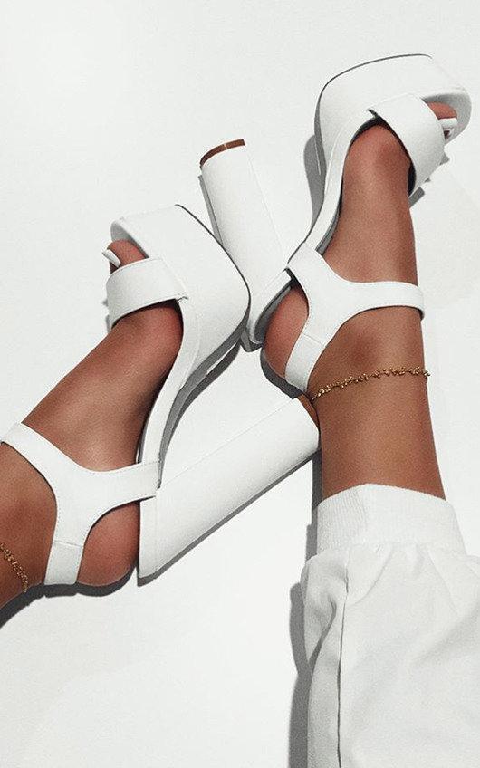 Alexi Strappy Platform Block Heels