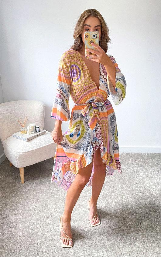 Alexia Printed Midi Dress