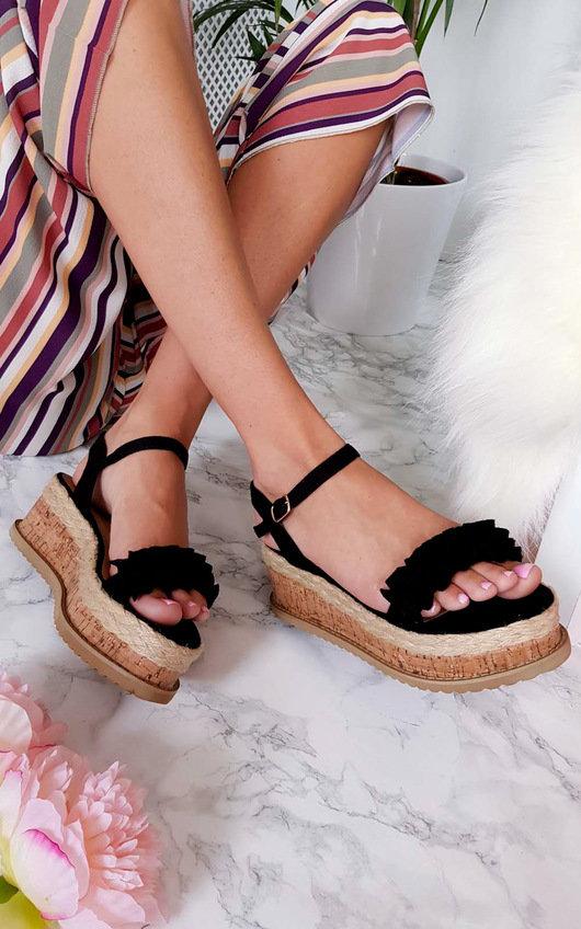 Ali Frill Flatform Sandals