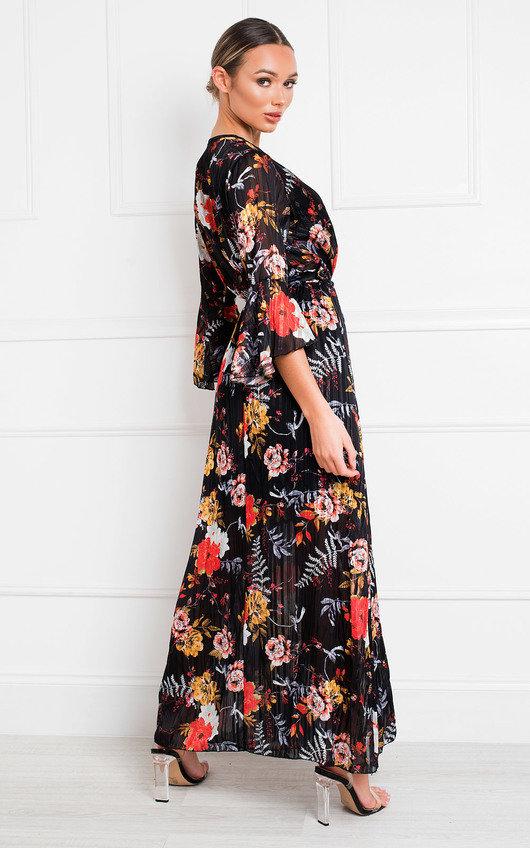 Alia Printed Floaty Maxi Dress