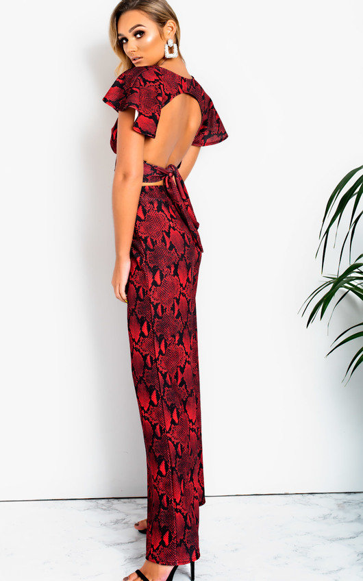 Alia Wide Leg Printed Co-Ord