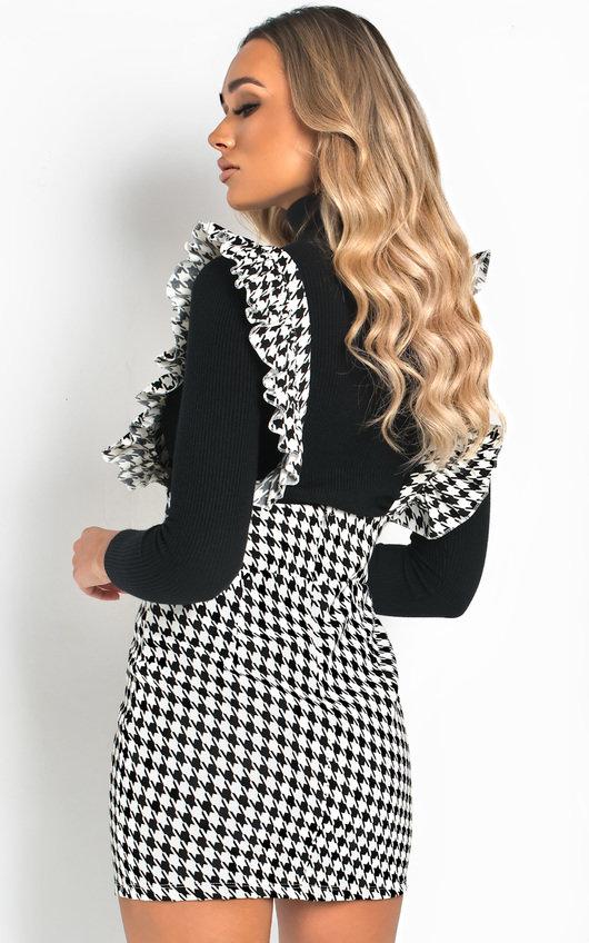Aliana Pinafore Mini Dress