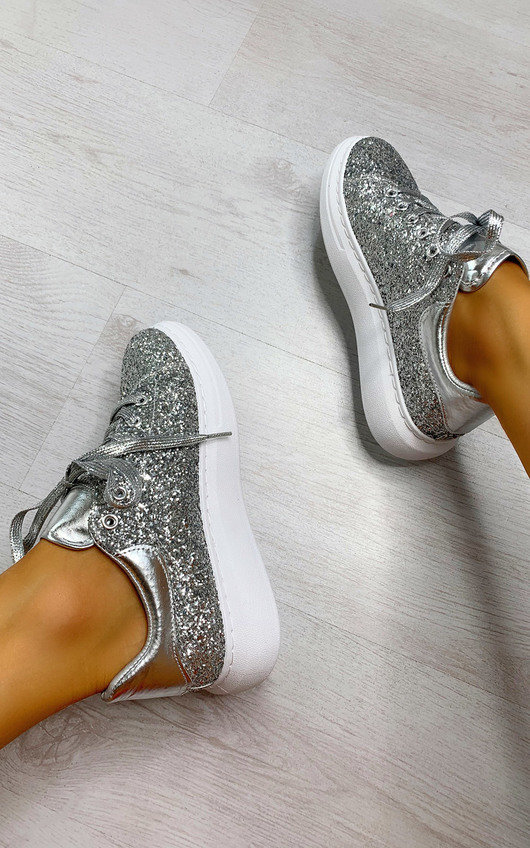 Alice Glitter Chunky Trainers