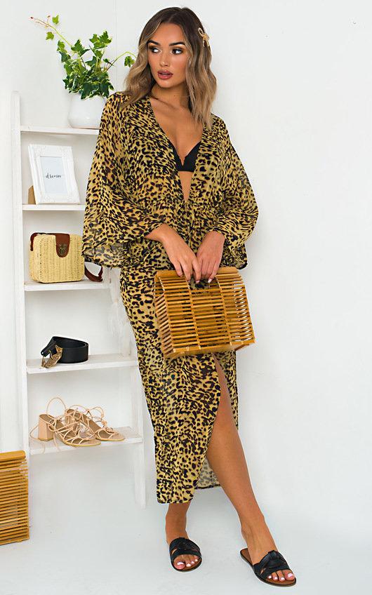 Alisha Leopard Print Cover Up