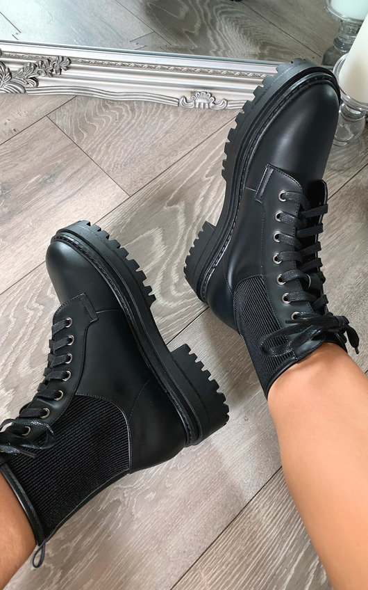 Alix Lace Up Biker Boots