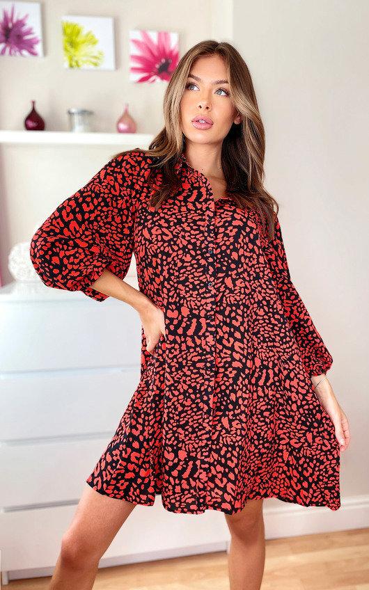 Alix Printed Shirt Dress