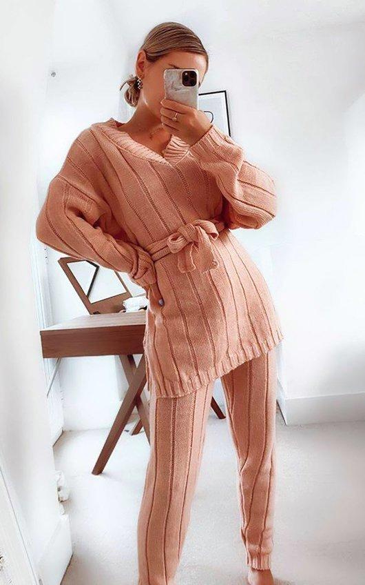Aliya Knitted Ribbed Co-ord