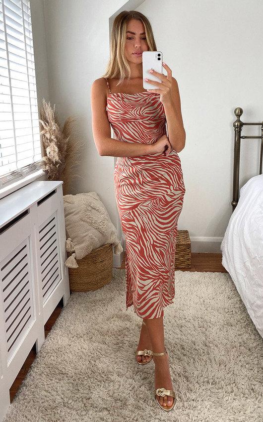 Aliyah Printed Midi Dress