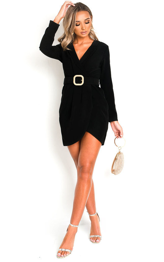 Ally Belted Shirt Mini Dress