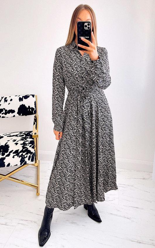 Ally Button Down Printed Maxi Dress