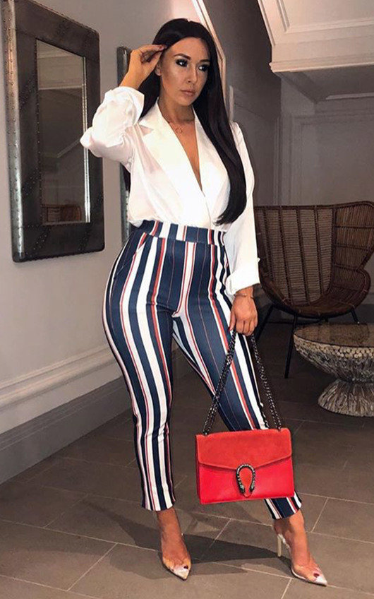 Ally Highwaisted Striped Trousers