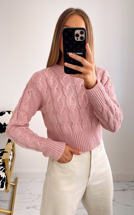 Alora Cable Knit Cropped Jumper