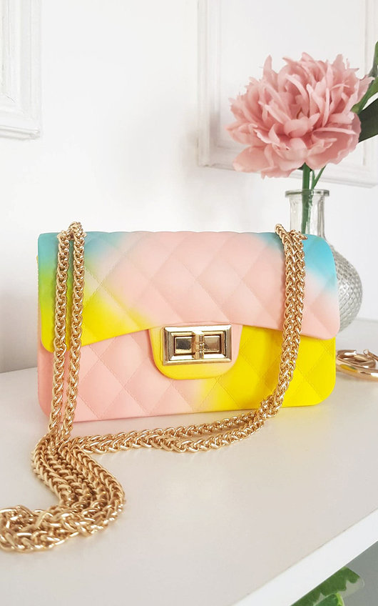 Alyx Rainbow Quilted Cross Body Bag