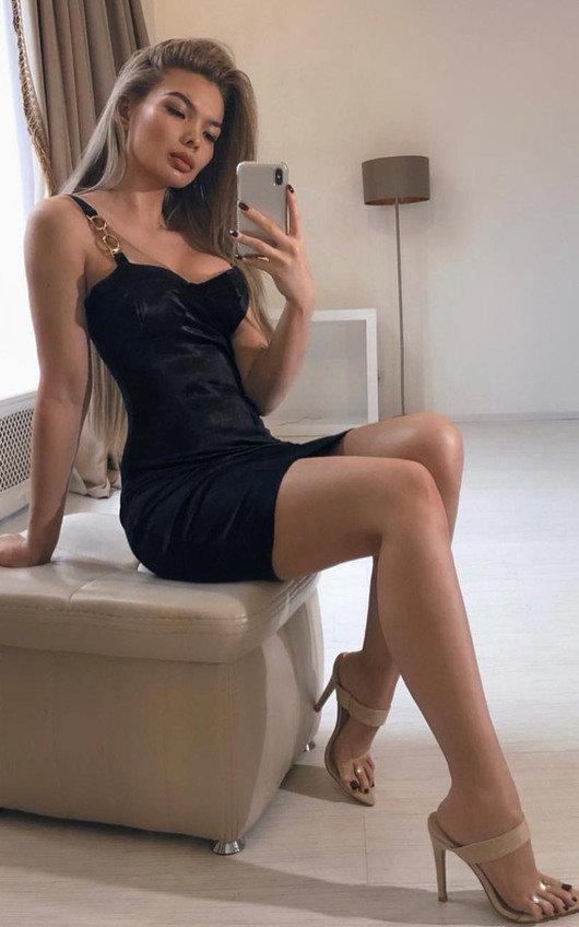 Amalia Chain Strap Satin Mini Dress