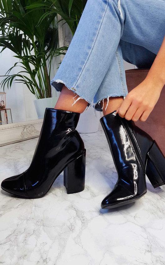Amalie Block Heeled Boots