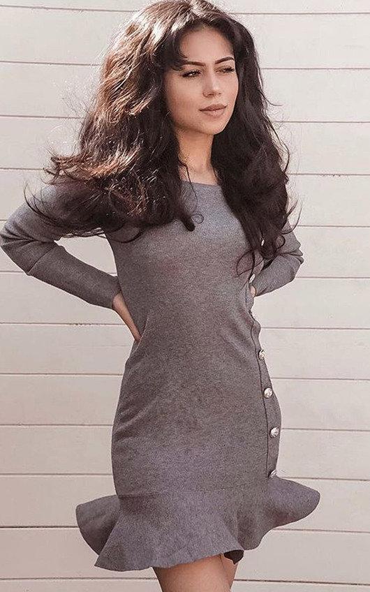 Amanda Peplum Knit Dress